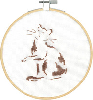DMC Counted Cross Stitch Kit - Playful Cat