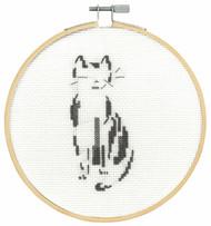 DMC Counted Cross Stitch Kit - Pensive Cat