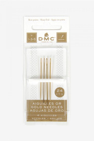 DMC Gold Plated Embroidery Hand Needles - Size 1-3-5