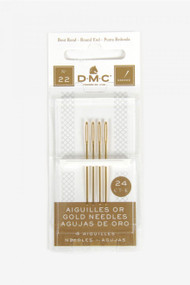 DMC Gold Plated Embroidery Hand Needles - Size 22