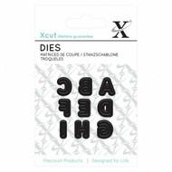 Xcut Mini Die - Uppercase Capital Alphabet A - I