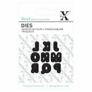 Xcut Mini Die - Uppercase Capital Alphabet J - R