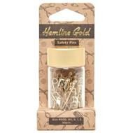 Hemline Gold Gold - Safety Pins - Assorted Sizes