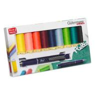 Gutermann Thread Set: Sew-All: 10 x 100m with Cartridge Pencil