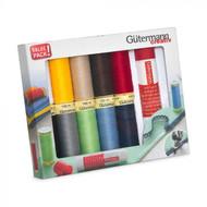 Gutermann Thread Set: Sew-All: 10 x 100m with Textile Glue Stick