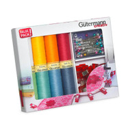 Gutermann Thread Set: Sew-All: 8 x 100m with Fabric Clips & Pins