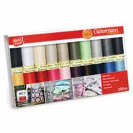 Gutermann Thread Set: Sew-All: 20 x 100m - Assorted Colours
