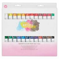 docrafts ARTISTE Watercolour Paint Set 24 X 12ml Tubes
