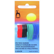 Pony Flat Ring Plastic Stitch Markers in 3 Sizes to fit needles up to 10mm
