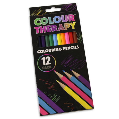 Colour Therapy Colouring Pencils 12 Pack