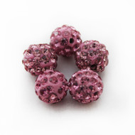 10mm Shamballa Beads - Dark Pink