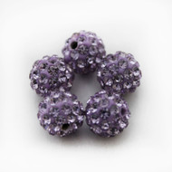 10mm Shamballa Beads - Dark Violet