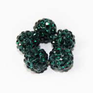 10mm Shamballa Beads - Emerald Green