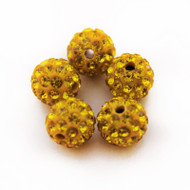 10mm Shamballa Beads - Gold
