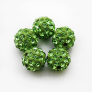 10mm Shamballa Beads - Light Green