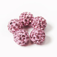10mm Shamballa Beads - Light Pink