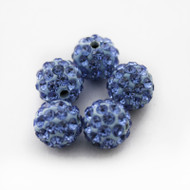 10mm Shamballa Beads - Light Sapphire Blue