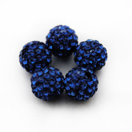 10mm Shamballa Beads - Montana Blue
