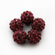 10mm Shamballa Beads - Siam
