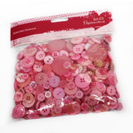Papermania Pink Mixed Buttons 250g