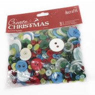 Papermania Traditional Christmas Mixed Buttons 250g