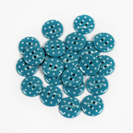 Polka Dot Buttons - Turquoise