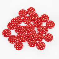 Polka Dot Buttons - Red