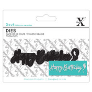 X-Cut Mini Happy Birthday Die