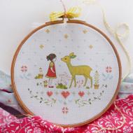 DMC Cross Stitch Kit - Nature Girl