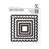 X-Cut Nesting Scalloped Square Dies