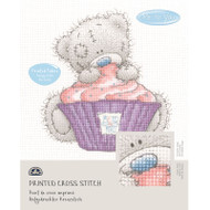 DMC Printed Cross Stitch Kit Tatty Teddy - Cupcake