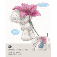 DMC Printed Cross Stitch Kit Tatty Teddy - Pink Lily