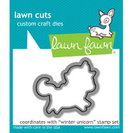 Lawn Fawn Winter Unicorn Die