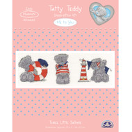 DMC Me to You Tatty Teddy Counted Cross Stitch Kit - Three Little Sailors