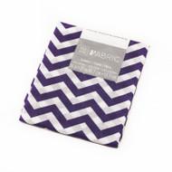 Darice Fabric Fat Quarter - Purple Chevrons