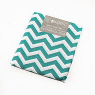 Darice Fabric Fat Quarter - Teal Chevrons