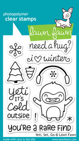 Lawn Fawn Yeti Set Go Stamps