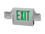 exit sign with green letters HL04093GW