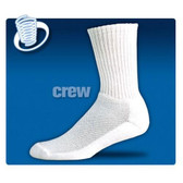 Jox Sox Women's Cushioned Crew Cut Sock-White