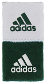 Adidas Interval Reversible Wristband-Forest/White
