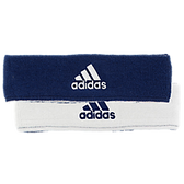 Adidas Interval Reversible Headband-Navy/White