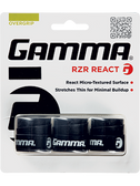 Gamma RZR React Overgrip - Black