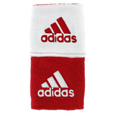 Adidas Interval Reversible Wristband-University Red/White