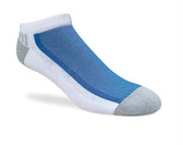 Jox Sox Men's Cushioned Low Cut Sock- White/Royal