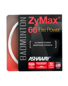 Ashaway ZyMax 66 Fire Power Badminton String Set-Ivory White