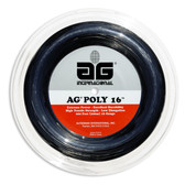 AG Poly 16 Polyester Tennis String Reel-Black