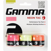 Gamma Neon Tac Tennis Overgrips 3-Pack