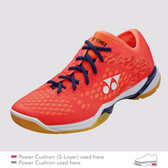Yonex Men's Power Cushion 03 Z Indoor Shoe-Coral Red