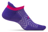 Feetures High Performance Cushion No Show Tab Chevron Iris