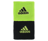 Adidas Interval Reversible Wristband - Slime/Black
